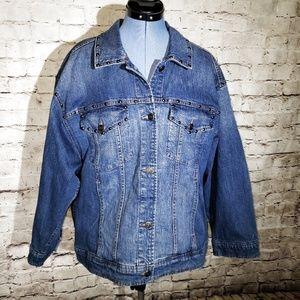NWT Kate Spade Oversize Denim Jacket Medium Wash